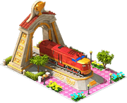 Gold Schenectady Locomotive Arch