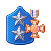 Badge Military Level 74