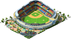 Large Baseball Stadium