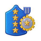 Badge Military Level 99