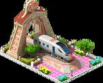 Bronze Intercity Locomotive Arch