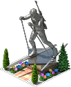 Biathlete Statue