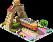 Gold Kuha Locomotive Arch