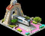 Silver Narita Locomotive Arch