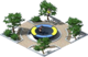 Decoration Park with a Trampoline
