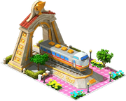 Gold Hokuetsu Locomotive Arch