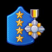 Badge Military Level 98