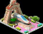 Bronze Pato Locomotive Arch