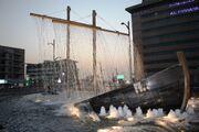 RealWorld Sailing Ship Fountain