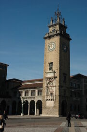 RealWorld Old Bergamo Clock Tower