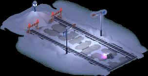 Snowville Track Straight Long EW Stopper 75%