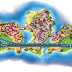 Fully upgraded Coral Islands with tunnels