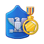 Badge Military Level 66