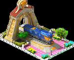Gold Kumoya Locomotive Arch