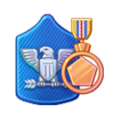 Badge Military Level 64