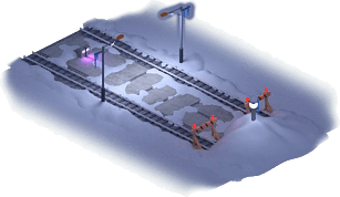 Snowville Track Straight Long WE Stopper 75%
