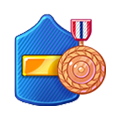 Badge Military Level 44