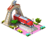 Silver NOHAB Locomotive Arch