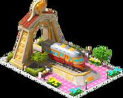 Gold Ferreira Locomotive Arch