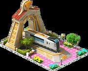 Gold Narita Locomotive Arch