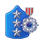 Badge Military Level 80