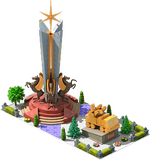 Gold SAM-23 Monument