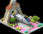 Silver Intercity Locomotive Arch