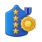 Badge Military Level 102