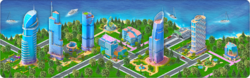 Business Island Background