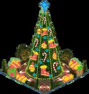 Kirlian Christmas Tree (Night)