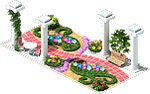 Colonnaded Walkway (Valentine's Day)
