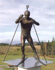 RealWorld Biathlete Statue