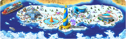Iceberg in Megapolis Background
