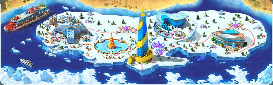 Iceberg in Megapolis Background