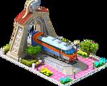 Silver Metra Locomotive Arch