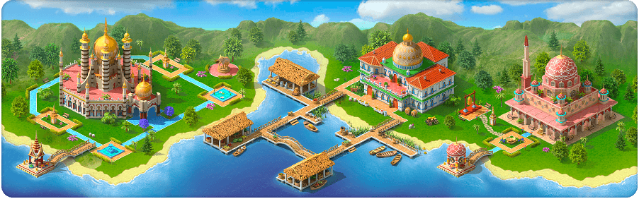 Water Town Background