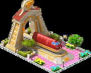 Gold Talgo Locomotive Arch