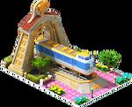 Gold Fuji Locomotive Arch