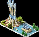 Silver SAM-10 Monument