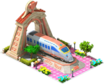 Bronze Nippo Locomotive Arch