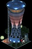 Modern Water Tower (Night)