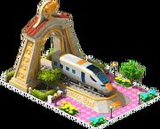 Gold Intercity Locomotive Arch
