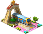 Gold Rotem Locomotive Arch