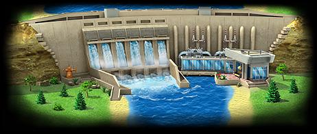 Hydro Power Plant Artwork