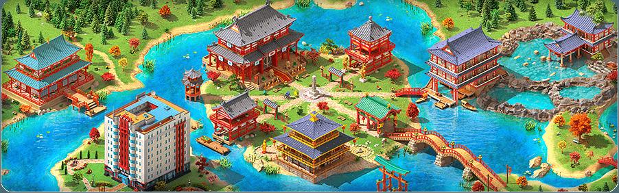 Eastern Autumn Background