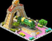 Gold Atlantic Locomotive Arch
