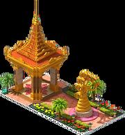 Gold Serpent Statue