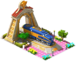 Gold Nickel Locomotive Arch