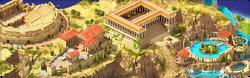 Pamukkale Terraces Background