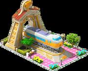 Gold Azusa Locomotive Arch